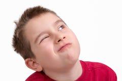 Kid giving a choosy look Royalty Free Stock Photo