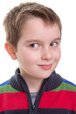 Kid Gives a Side Look. Kid giving a mischievous side look. Wonder what he thinks Royalty Free Stock Photography