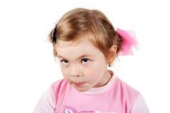 Kid glance. Happy little girl. Shot in studio Royalty Free Stock Image