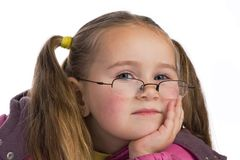 Kid with glasses Stock Images