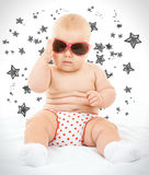 Kid with glasses Royalty Free Stock Image
