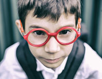 Kid with glasses royalty free stock photography