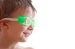 Kid with goggles Royalty Free Stock Photo