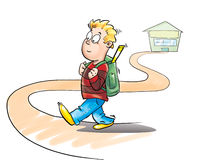 Kid going to school Royalty Free Stock Photos