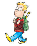 Kid going to school Stock Photography
