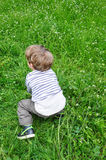 Kid on grass Stock Photo