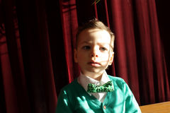 Kid in green cardigan Royalty Free Stock Photography