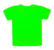 Kid green tshirt on white background Stock Image