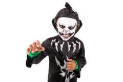 Kid in Halloween costume Royalty Free Stock Photography