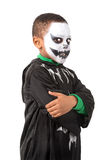 Kid in Halloween costume Stock Image