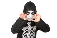 Kid in Halloween costume Stock Photography