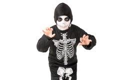 Kid in Halloween costume Stock Photo