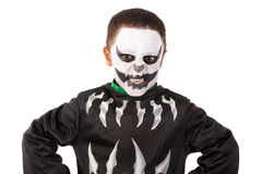 Kid in Halloween costume Stock Images