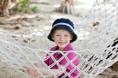 Kid in hammock Stock Photography