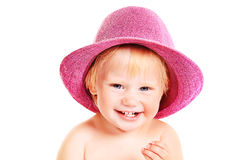 Kid in hat Royalty Free Stock Images