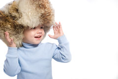 Kid in hat Stock Images