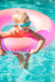 Kid Having Fun in Swimming Poo Stock Image