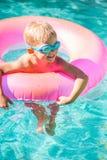 Kid Having Fun in Swimming Poo Stock Image