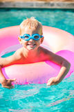 Kid Having Fun in Swimming Poo Royalty Free Stock Image