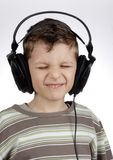 Kid with headset Stock Photography