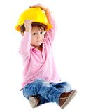 Kid with a helmet Stock Image