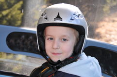 Kid with helmet Royalty Free Stock Image