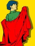 Kid with hero's cape Royalty Free Stock Photo