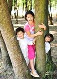 Kid hiding Stock Photo