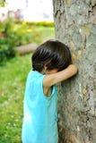 Kid hiding Royalty Free Stock Photos
