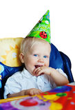 Kid on highchair. Royalty Free Stock Image