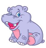 Kid Hippo illustration  color Royalty Free Stock Photo