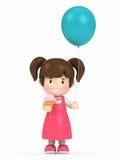 Kid holding balloon Stock Photos