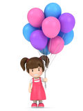 Kid holding balloons Royalty Free Stock Photos