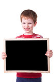 Kid Holding a black Board Stock Photo