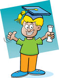 Kid holding a diploma Royalty Free Stock Photography