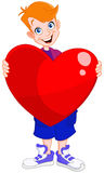 Kid holding heart valentine Royalty Free Stock Photography