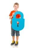 Kid holding lock Royalty Free Stock Photography