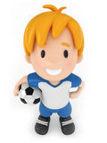Kid holding Soccer Ball Royalty Free Stock Photos