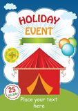 Kid Holiday Event Vector Template Royalty Free Stock Photos
