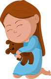 Kid hug bear. Vector and illustration royalty free illustration