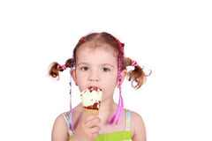 Kid with ice cream Stock Photos