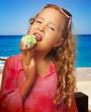 Kid with ice cream Royalty Free Stock Image