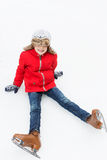Kid ice skating Stock Images