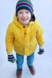 Kid ice skating Stock Photos