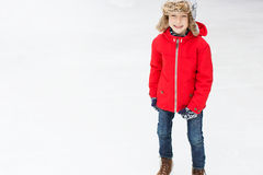 Kid ice skating Royalty Free Stock Photo