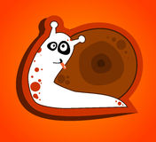 Kid illustration with funny snail Royalty Free Stock Photos