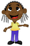 Kid ilustration. An illustration of a happy African child royalty free illustration