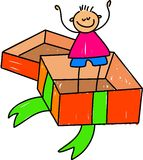Kid In A Box Royalty Free Stock Photography