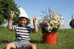 Kid In Nature Royalty Free Stock Images
