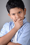 Kid. Indian kid with expression in the face Stock Photography